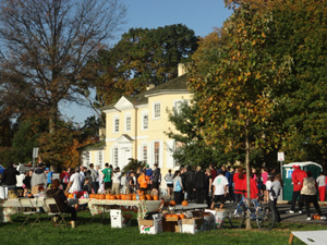 Boxer Trail Day at Laurel Hill Mansion features pumpkins  and the race's finish line