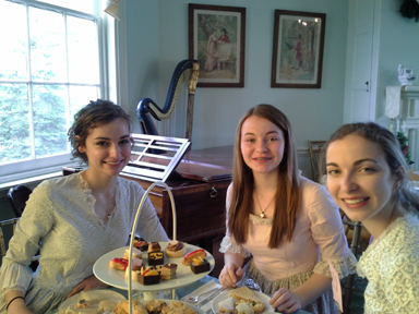 Photograph from the Spring Tea Fundraiser hosted by Women for Greater Philadelphia at Laurel Hill Mansion
